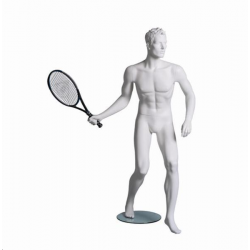 Mannequin sportif homme tennisman blanc