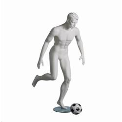 Mannequin sportif homme footballeur blanc