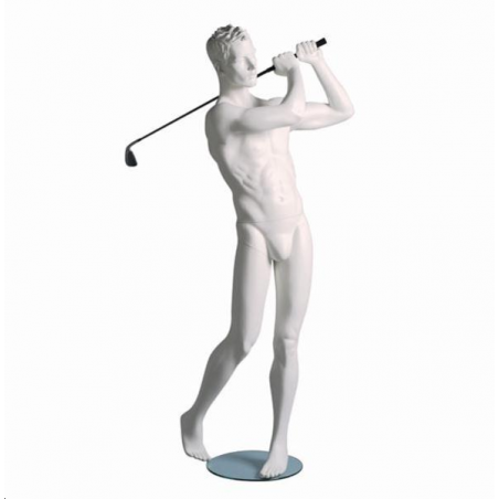 Mannequin sportif homme golfeur blanc