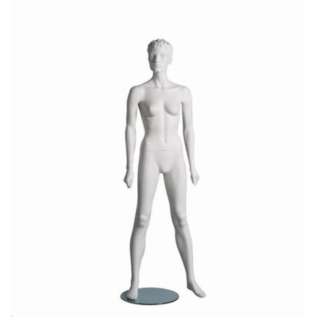 Mannequin sportif femme fitness A blanc