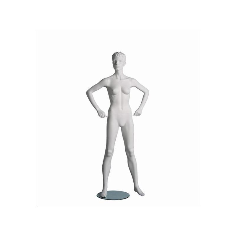 Mannequin sportif femme fitness B blanc