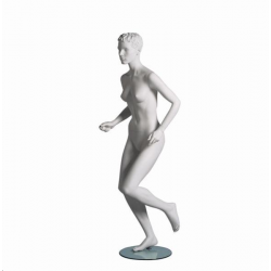 Mannequin sportif femme runner blanc