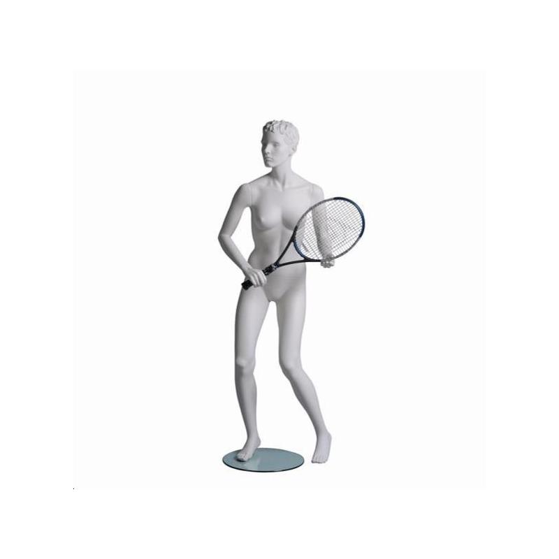 Mannequin sportf femme tenniswoman blanc