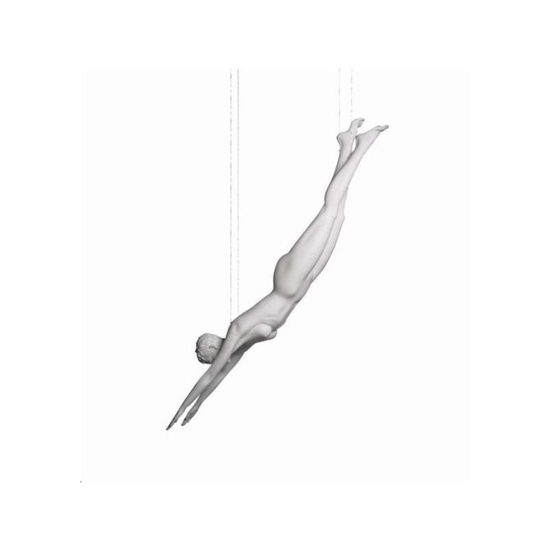 Mannequin sportif femme plongeur blanc