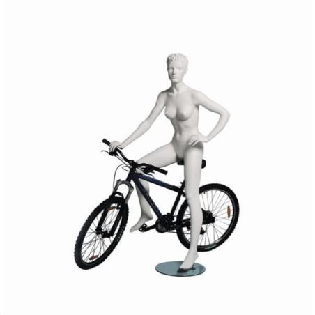 Mannequin sportif femme cycliste blanc