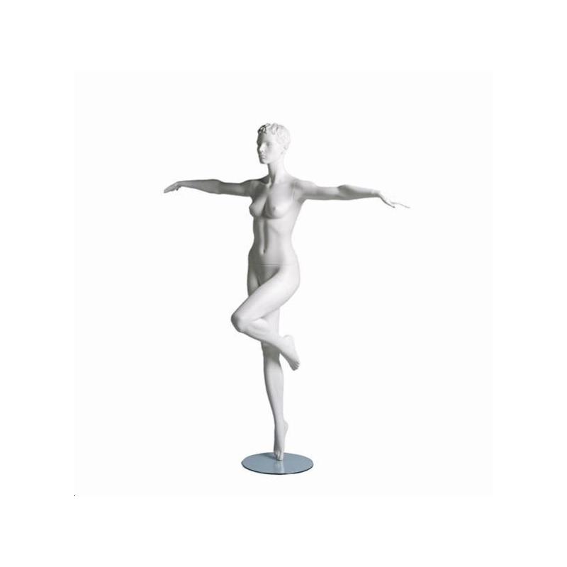 Mannequin sportif femme aérobic blanc