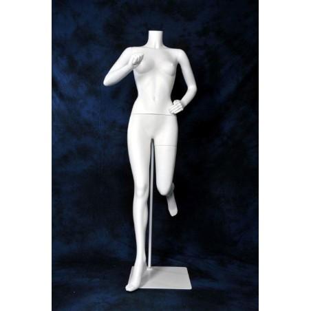 Mannequin sportif femme Runner sans tête blanc