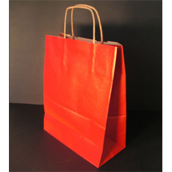 Sac papier kraft rouge 24x12x31 cm x50