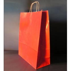 Sac papier kraft rouge 35x14x44 cm x50