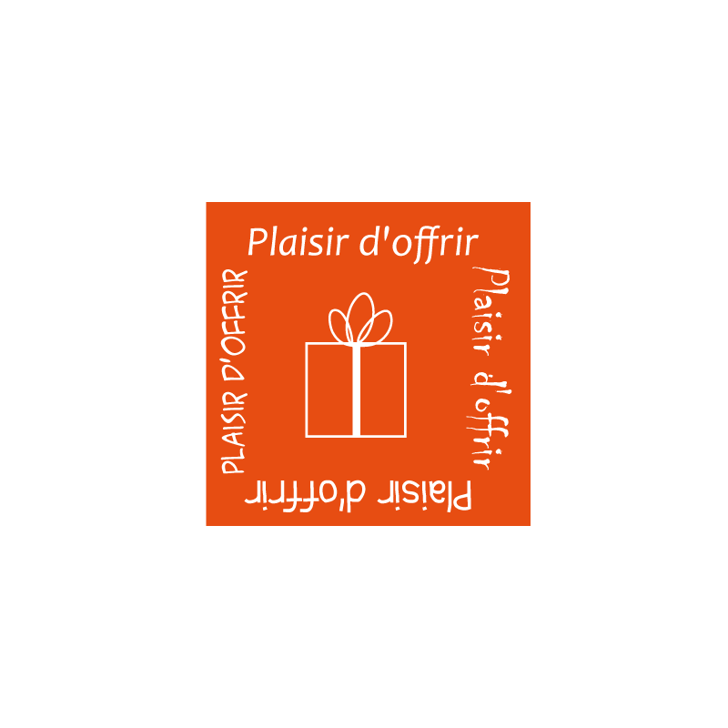 """500 Étiquettes """"plaisir d'offrir"""" Orange"""