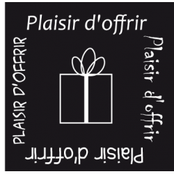 """500 Étiquettes """"plaisir d'offrir"""" Noir"""