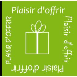"""500 Étiquettes """"plaisir d'offrir"""" Vert"""