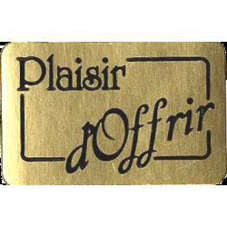 """1000 Étiquettes """"plaisir d'offrir"""" Or"""