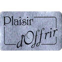 """1000 Étiquettes """"Plaisir d'offrir"""" Argent"""