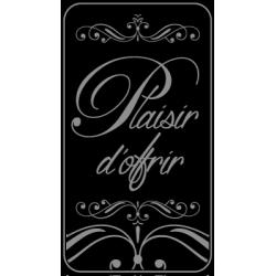 "500 Étiquettes ""Plaisir d'offrir"" fond noir"