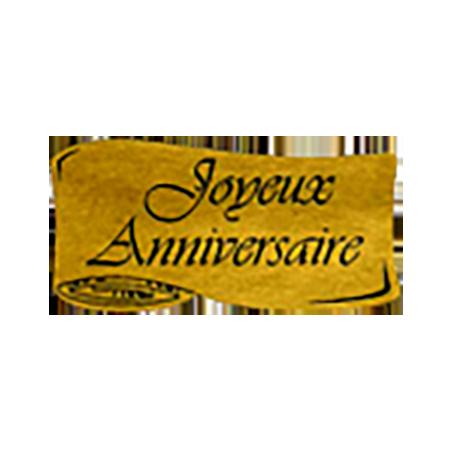 """500 Étiquettes """"Joyeux Anniversaire"""" Parchemin or"""