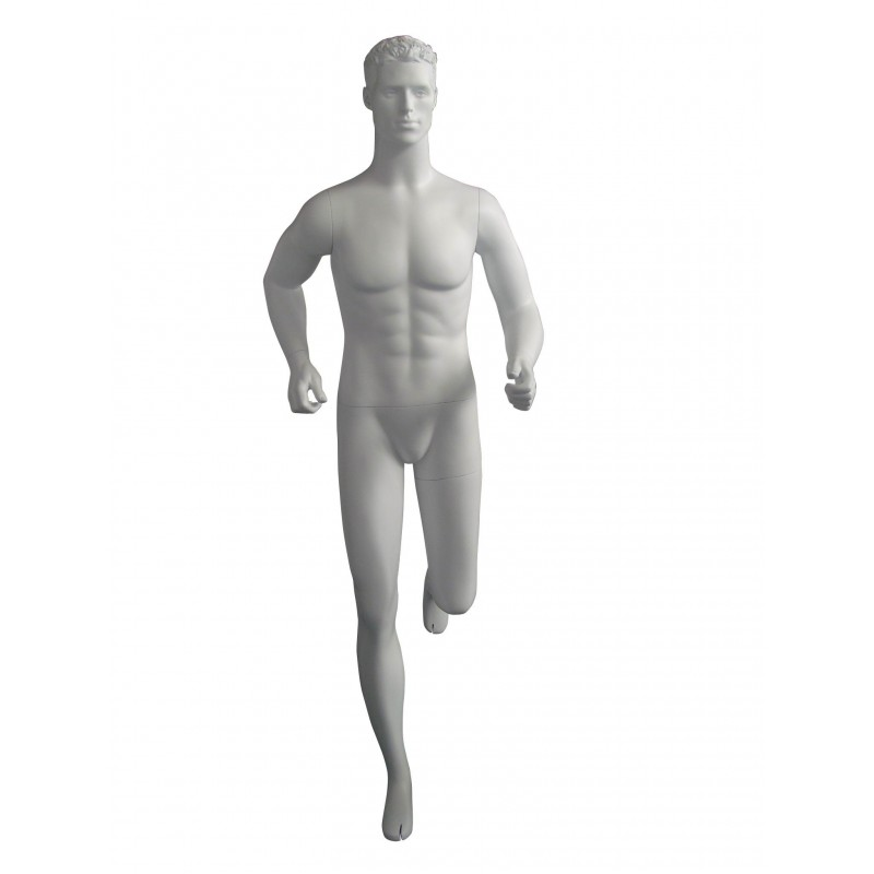 Mannequin sportif homme Runner blanc avec tête