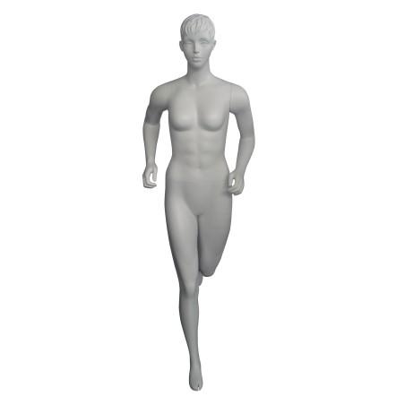 Mannequin sportif femme Runner blanc avec tête