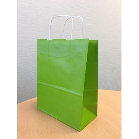 Sac papier kraft vert 18x8x24 cm x50