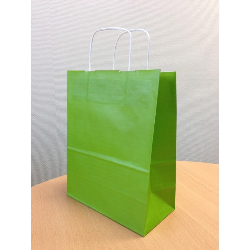 Sac papier kraft vert 35x14x44 cm x50