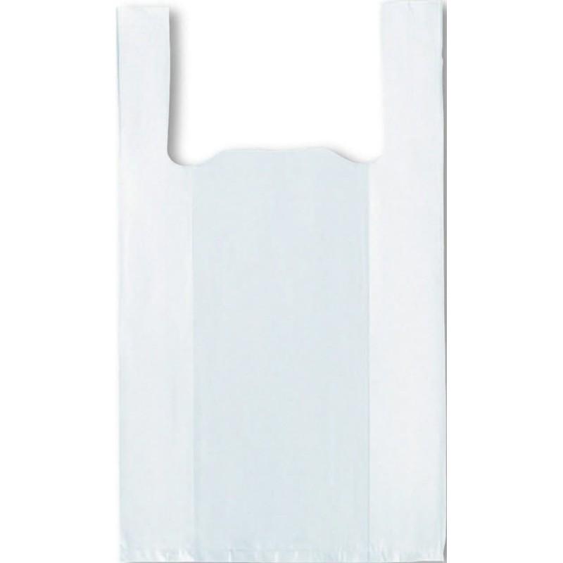 2000 sacs plastique bretelle blanc 26x6/6x45 cm