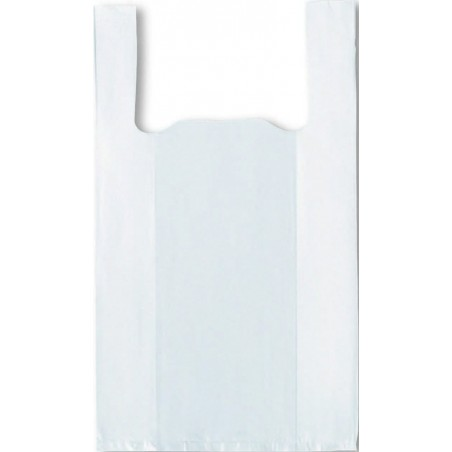 500 sacs réutilisables blancs à bretelles 26+6/6x45 cm