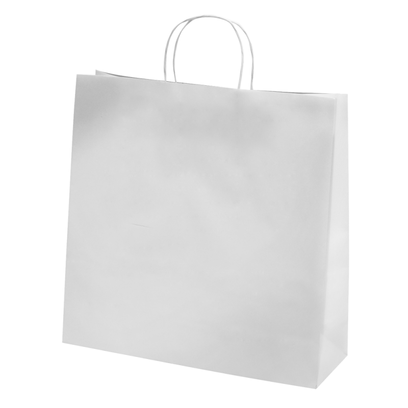 Sac papier kraft blanc 35x14x35 cm x50